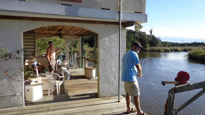 Fishing off the dock! - Ebo Landing Resort 1 - Saint Simons Island - rentals