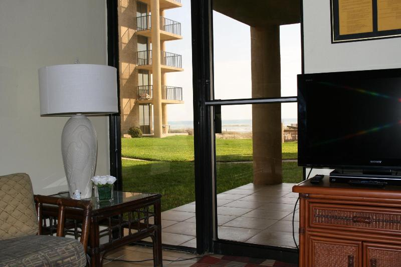 View from Living Room - Beachfront Ground Floor...Walk out to beach!!! - South Padre Island - rentals
