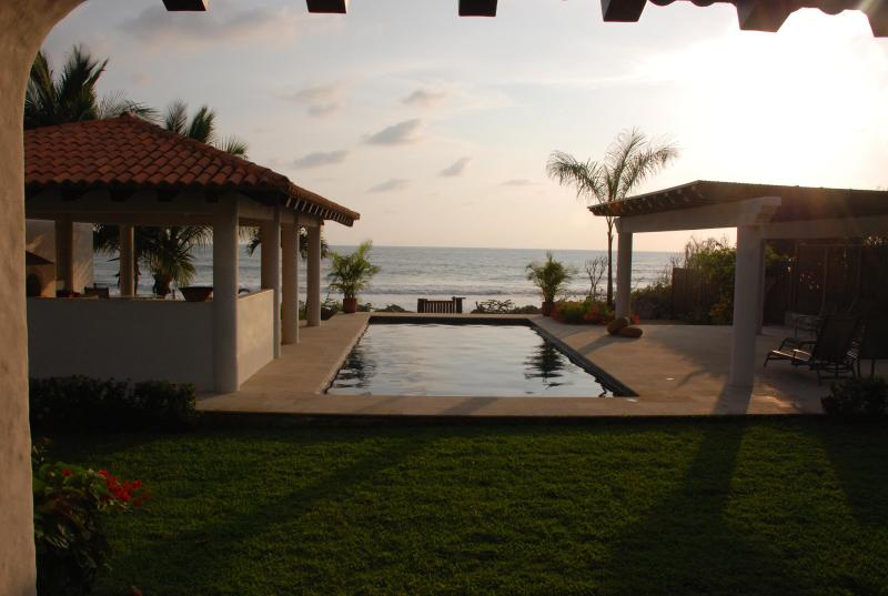 Pool, outdoor kitchen and lounge area - Casa Chulada-New Luxury Hacienda style Villa and A - Troncones - rentals