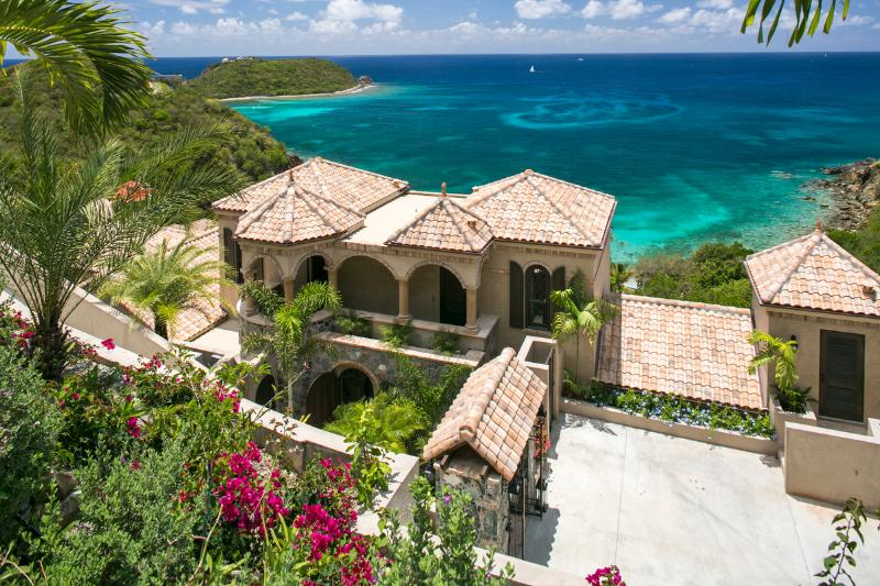 Overlooking Casa La Famiglia - New Luxury Family Villa-4 Equal King Master's - Virgin Islands National Park - rentals