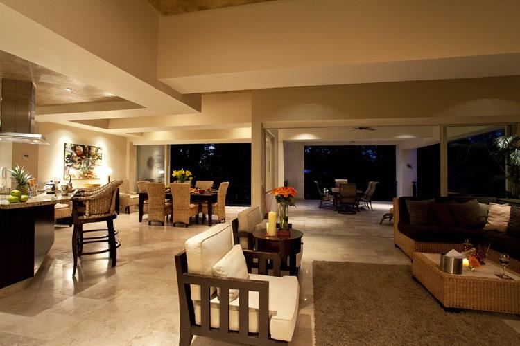The living space feels so spacious and is perfect for a group. - Spacious waterfront condo in the historic district - Puerto Vallarta - rentals