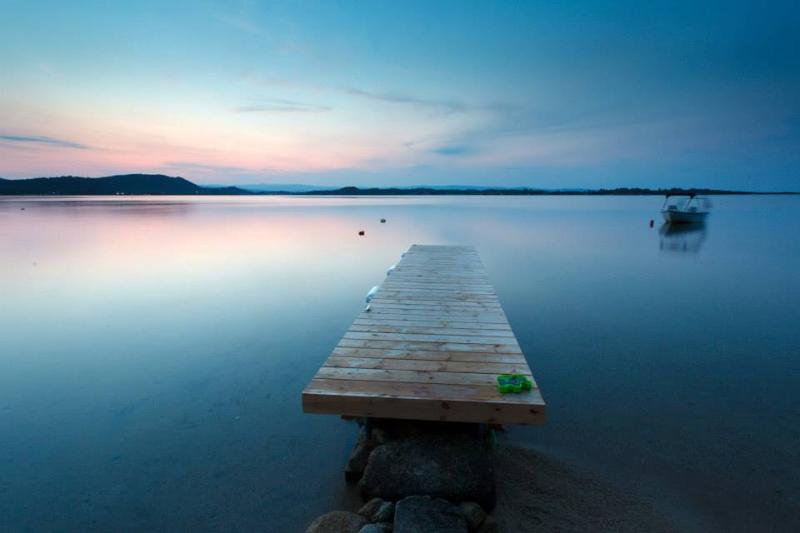 Dock in front of the house at sunset. - Unique beach front private house/ Удивительные побережье частный дом - Vourvourou - rentals