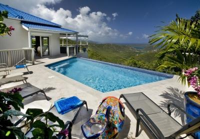 2 Bedroom Hillside Villa with Panoramic View on St. John - Image 1 - Bordeaux Mountain - rentals