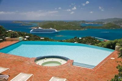 Prestigious 4 Bedroom Mansion with Private Pool on St. Thomas - Image 1 - Flag Hill - rentals