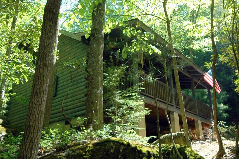 Riverfront Log Cabin - Private Waterfall and Scenic Nature Views - Image 1 - Millers Creek - rentals
