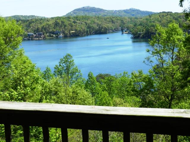 View of Lake Lure from Deck - Cozy Log Cabin, Views of Lake Lure & Mountains - Lake Lure - rentals