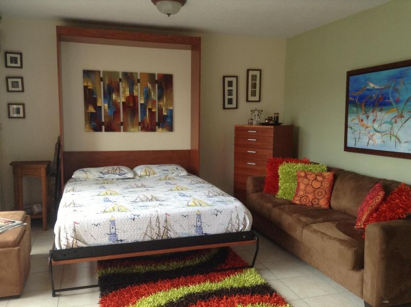 Studio is fuully equiped queen murphy bed - Beautiful Studio near the Beach in Isla Verde Area - Carolina - rentals