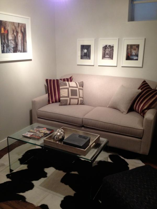 Living room with original photography, sofa bed too. - Toronto Modern Urban Hideaway - Toronto - rentals