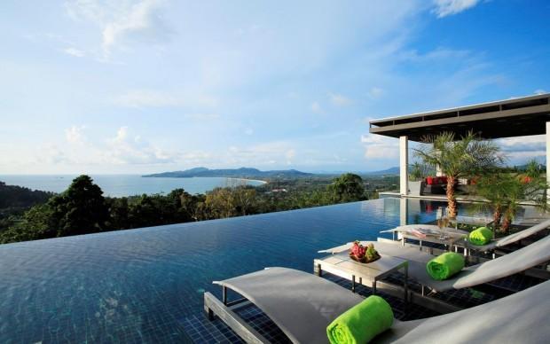 Magnificent 6 bedroom ocean view pool villa for rent in Surin Beach - sur16 - Image 1 - Phuket - rentals