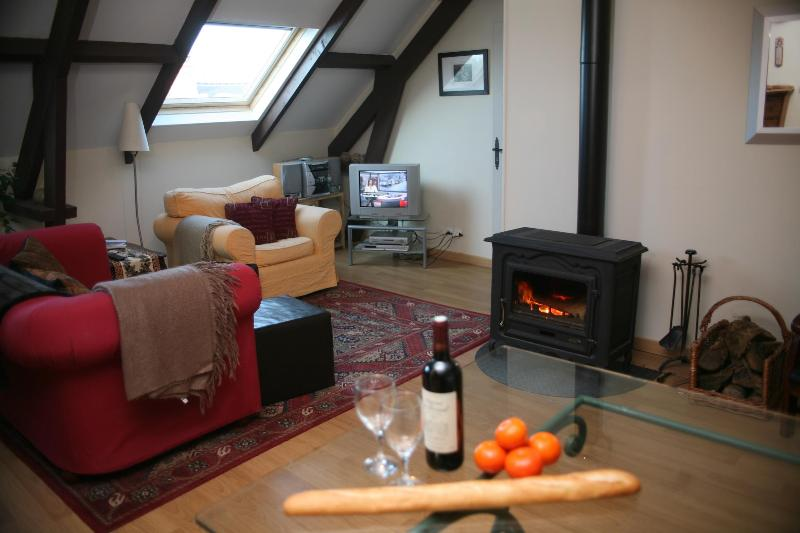 the fireside - couples look - barn apartment near Ste Mere Eglise - Houesville - rentals
