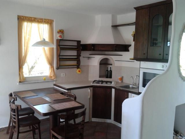 The kitchen- small but nice- with microvawe, oven,coffee machine; - Villa Matiz on Krk with great garden and SEA VIEW! - Krk - rentals