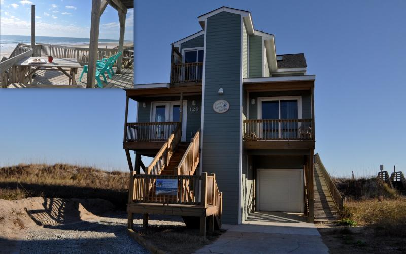Welcome to Larry's Lazy Susan , Covered Parking, Elevator and Ramp Access - Larrys Lazy Susan -Elevator 5BR Very Beachfront - North Topsail Beach - rentals