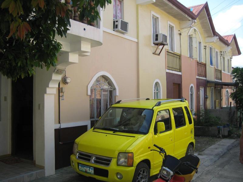 The house from outside - Our two story house at La Aldea del Rio, Mactan, Cebu, - Mactan Island - rentals