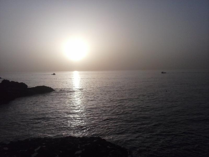 sunrise, taken in april, 10 metres from entry - BY THE SEA, beautiful and authentic - Llano del Moro - rentals