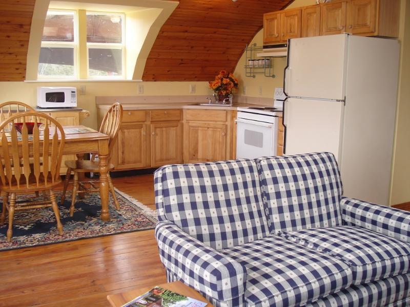 Living room, kitchen - Lexington two bedroom loft apartment on farm - Lexington - rentals