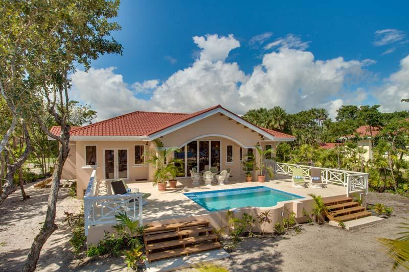 Bird's Eye View - New Finely Finished 2BR Beach Villa with Pool - Placencia - rentals