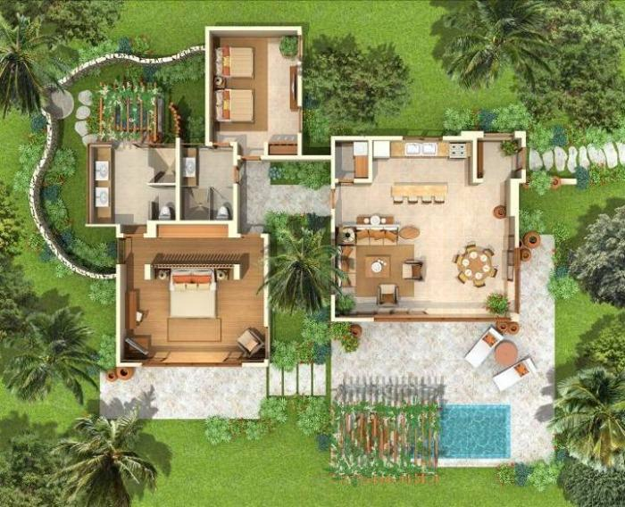 Green Village Villa Floor Plan - Cap Cana,Green Village 287 Up To 40% Off! - Punta Cana - rentals