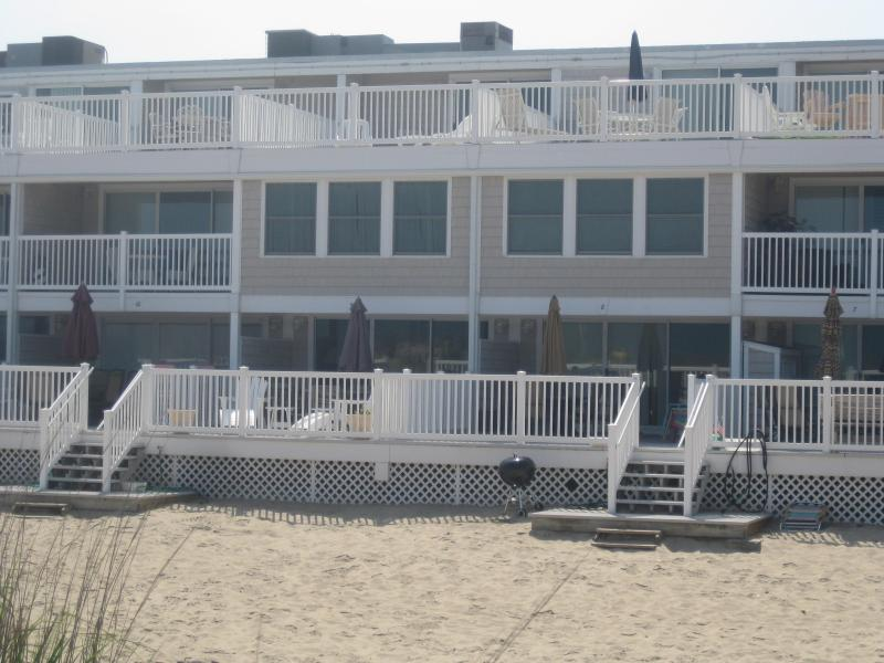 building from beach - Ocean Colony 4 bed direct ocean front townhouse - Ocean City - rentals