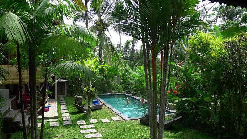 Private garden on the edge of the jungle with salt water pool only 5 minute drive from Ubud. - 5 min to Ubud, Views! Lush garden w salt pool,A.C. - Ubud - rentals