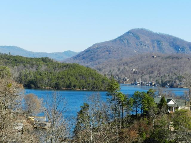 View of Lake Lure and mountains from deck - Lake Lure Cottage with Gorgeous Lake & Mtn Views - Lake Lure - rentals