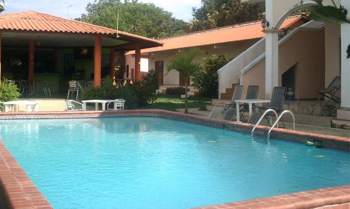 The Pool with Restaurante to the left - Pedasi Sports Club, Standard Room Sleeps 4 - Pedasi - rentals