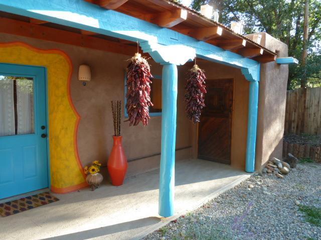 Front Portal - CASA FELIZ-CHARMING ADOBE CASITA - Taos - rentals