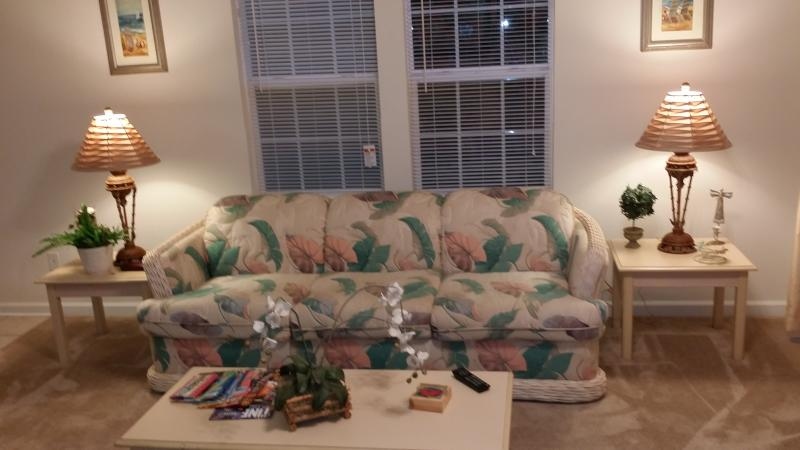 Living Room with Queen Size Sofa - 1 Bedroom condo 1 mile from the Beach F1 - Garden City Beach - rentals