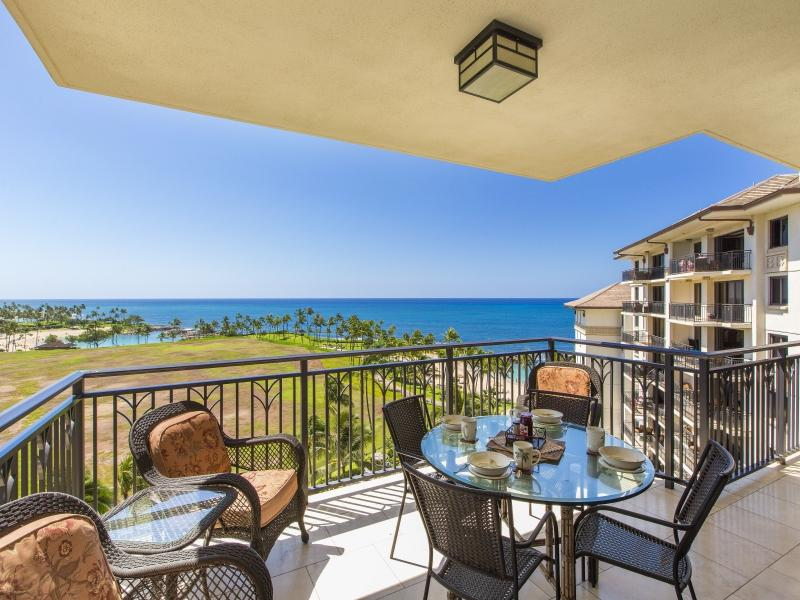 Ocean Views from the balcony - B-801: Pristine 8th Floor Beach Villa - Kapolei - rentals