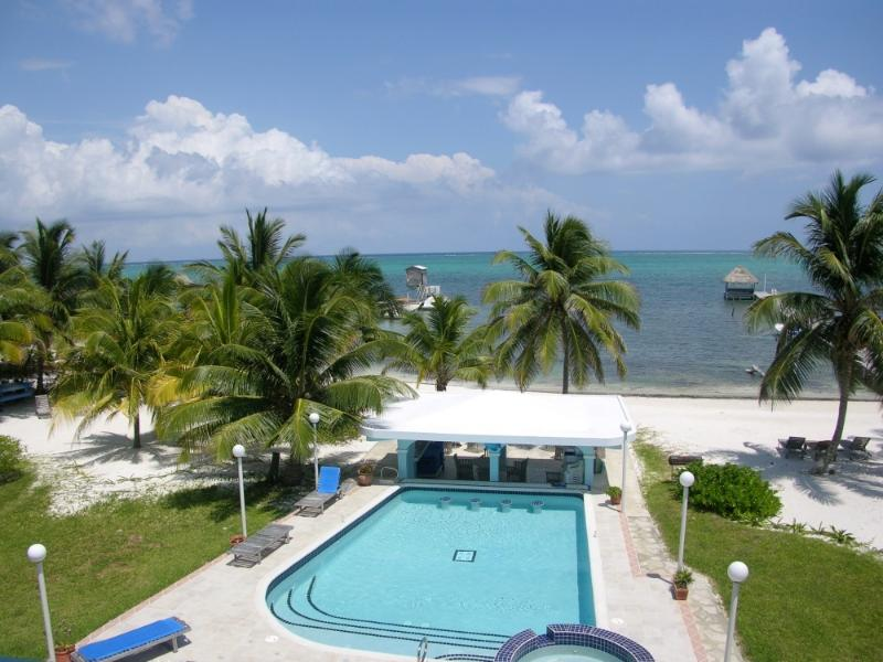 View from your 3rd floor balcony! - 2 bedroom condo with loft on private beach! -A5 - San Pedro - rentals