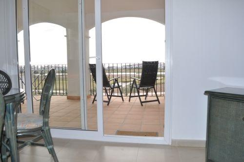 View from living area to large balcony - Spanish Holiday Apartment - Sucina - rentals