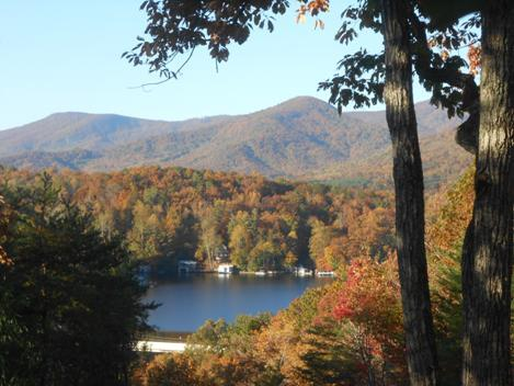 Fall View off the Back Porch - Enjoy the Amazing Lake and Mountain Views ! ! ! - Lake Lure - rentals