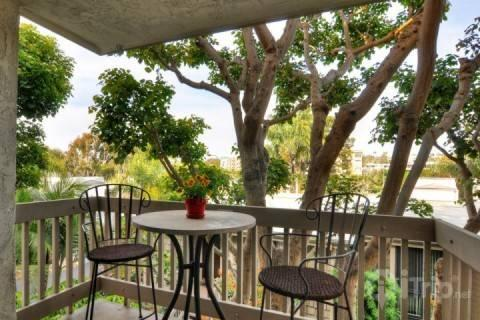 Enjoy coffee on the patio - Beachfront Complex, Luxury Garden View Condo - Oceanside - rentals