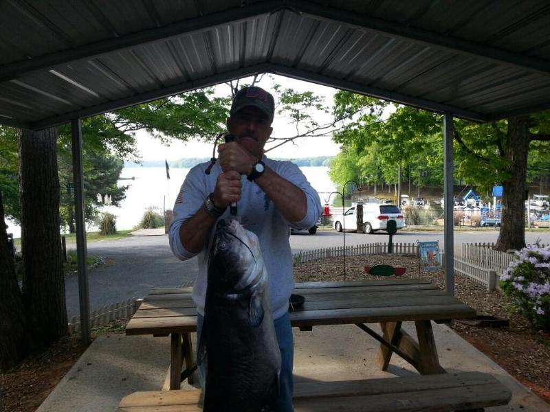 BIG FISH CAUGHT IN 60 FEET WATER OFF PONTOON - ****Lake Gaston Retreat** Includes Pontoon on site - Bracey - rentals