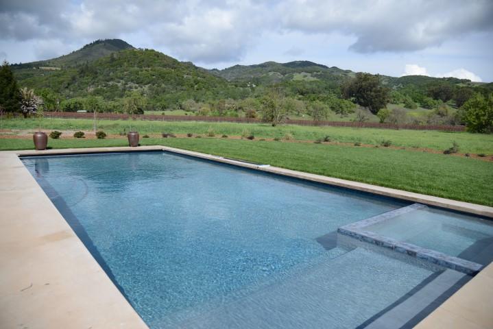 large swimming pool and panoramic views - Elegant wine country retreat; panoramic views, pool - Kenwood - rentals