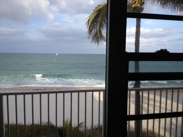 View from YOUR window - Direct Ocean Front Studio - Furnished, Cable, WiFi - Lauderdale by the Sea - rentals