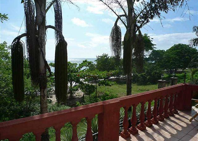 Patio View - Beautiful beachfront townhouse- near beach, shared pool, cable, internet, a/c - Tamarindo - rentals