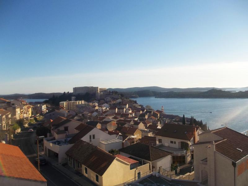View of the city from our apartment - Sea view duplex in the center of Šibenik - Sibenik - rentals