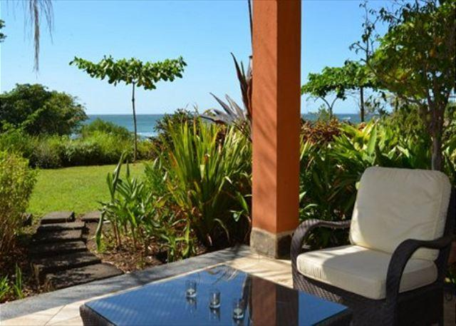 View from Patio - Beautiful beachfront condo- pool, custom kitchen, patio, cable, a/c - Tamarindo - rentals