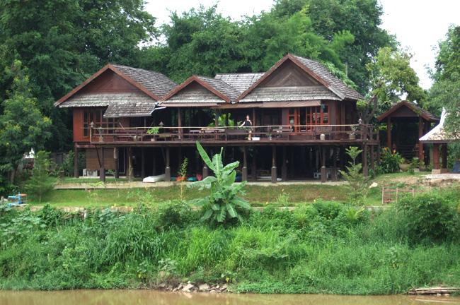 View from the river - Thai traditional wooden house with western comfort - Chiang Mai - rentals