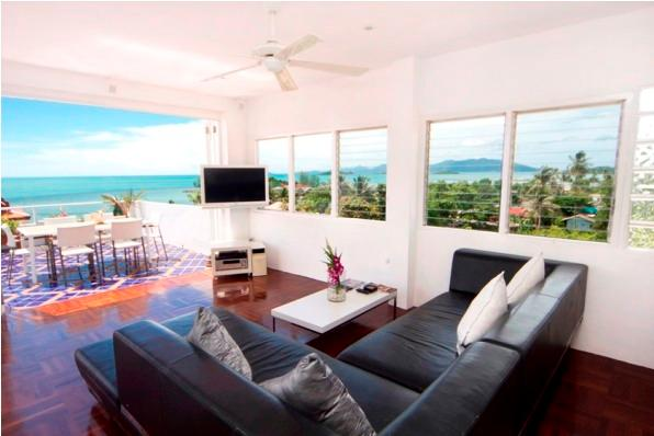 $million view from the Penthouse living area - Celebrity Ocean View Mansion 4 Bed - Koh Samui - rentals