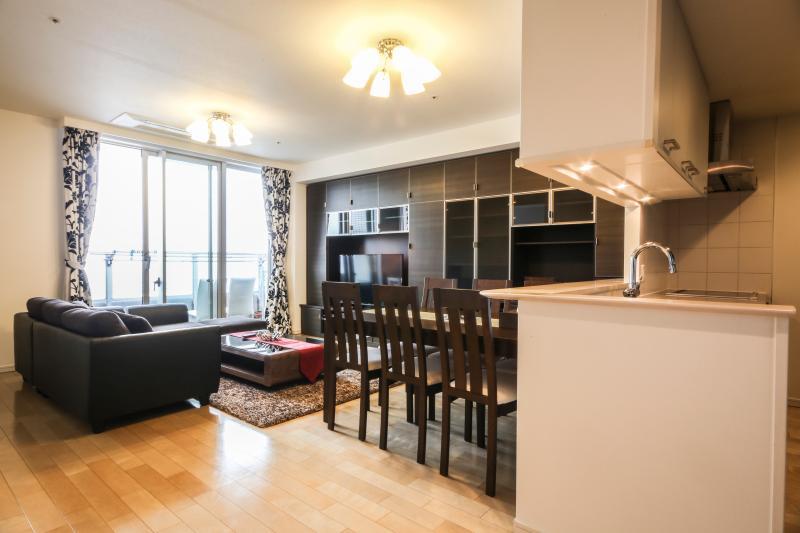 Living Room with a beautiful view of Tokyo Bay - Beautiful Tokyo Bay, Odaiba, Tsukiji3 - Tokyo - rentals