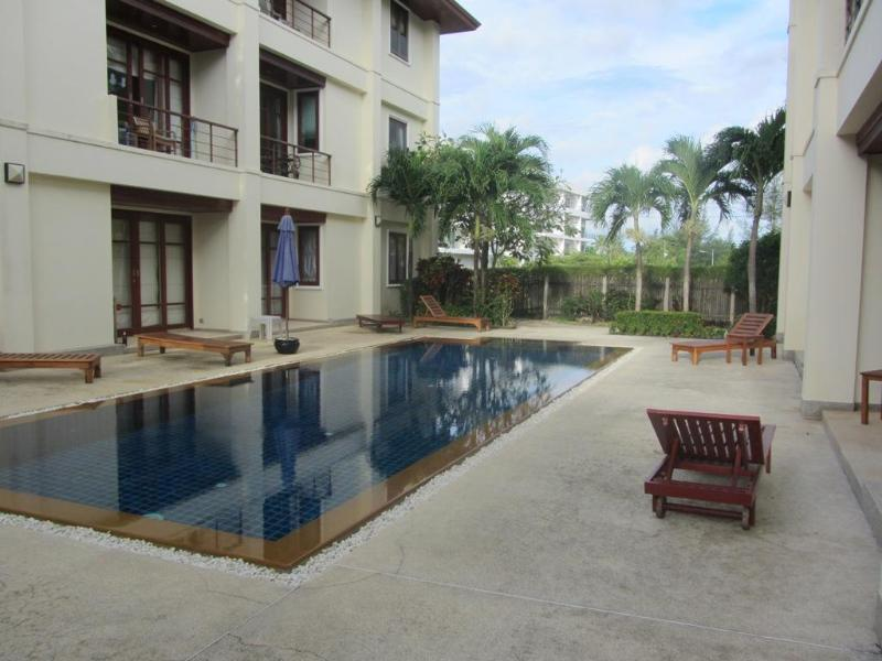 Pool Looking at apartment ground floor - Surin Beach 2 Bedroom Apartment Close Beach-B10 - Phuket - rentals