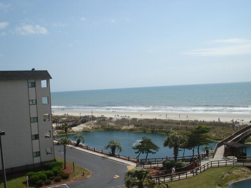 view from porch and window - ocean view myrtle beach resort studio reduced rate - Myrtle Beach - rentals