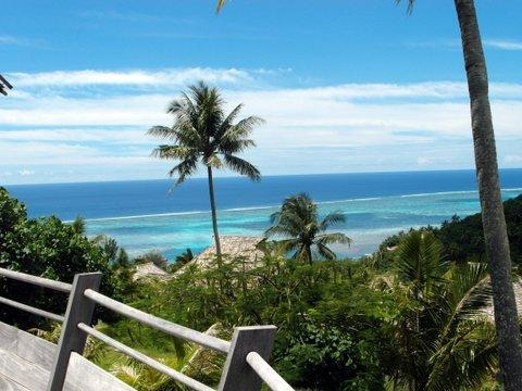 Ocean view from the deck of villa Tau'ra. - Moorea  luxury home in private gated residence - Moorea - rentals