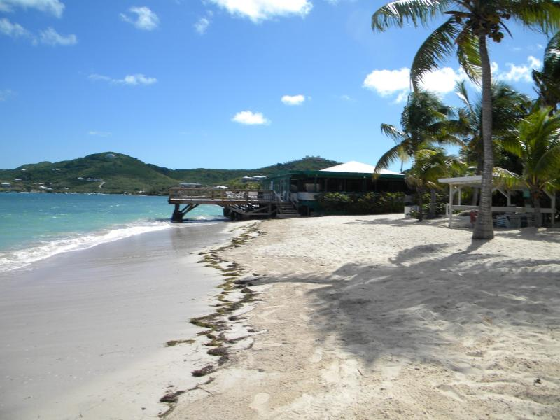 The Reef Beach looking toward the four star restaurant! - Reef Golf Resort,  Christiansted, St. Croix, USVI - Christiansted - rentals