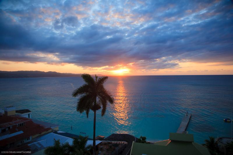 Balcony View Sunset - GorgeousTheBestBeachCondo @ DoctorsCaveBeachPhotos - Montego Bay - rentals