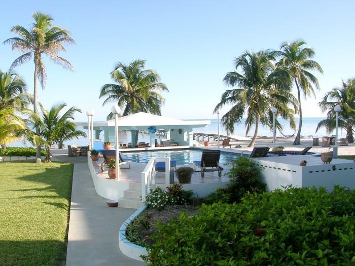 Condo A4 view from porch (ground floor) - Veranda + porch with pool & sea view! - San Pedro - rentals
