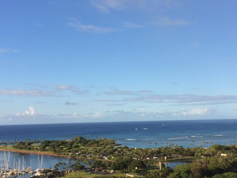 View From Living Room - Ala Moana Condo - 1 Bdrm Ocean View - 24th Fl. - Honolulu - rentals