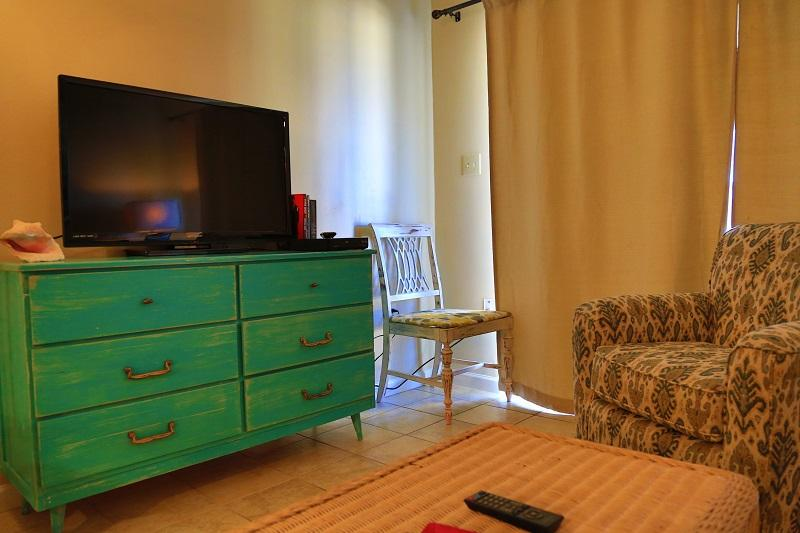 TV in living room and access to balcony - Harbor House B14 - Gulf View - Gulf Shores - rentals