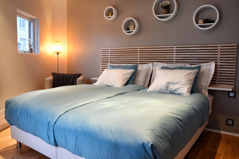 Bed room - New design cozy down town with balcony - Reykjavik - rentals